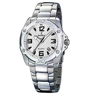 FESTINA F16386/1 - Reloj de caballero de cuarzo, correa de acero inoxidable color plata