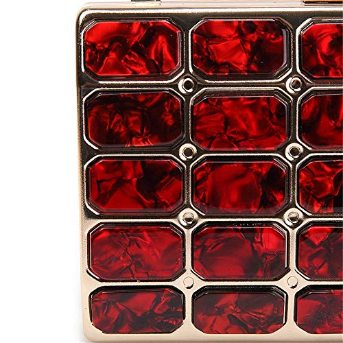 sera vestito da borsa da di la promenade sera Borsa cristallo di da strass Borsa di Frizioni per di del mano donna della da borsa Borsa frizione donne festa Red Bling delle di della nuziale di sera 0d1BTx1w