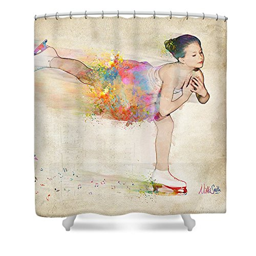 Pixels Shower Curtain (74'' x 71'') ''Chase Your Dreams'' by Pixels