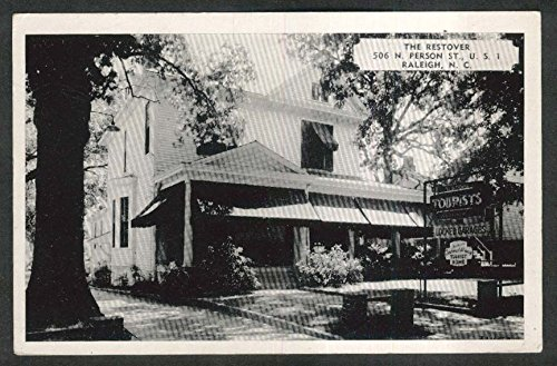 The Restover 506 N Person St US 1 Raleigh NC postcard 1950s from The Jumping Frog