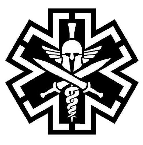 Tactical Medicine (TAC-MED) Spartan Vinyl Decal (SWAT (Black)) (Decals Swat)