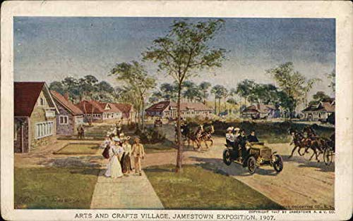 Arts and Crafts Village, Jamestown Exposition, 1907 Jamestown, New York Original Vintage Postcard from CardCow Vintage Postcards