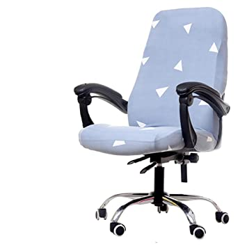 Miraculous Deisy Dee Computer Office Chair Covers For Stretch Rotating Mid Back Chair Slipcovers Cover Only Chair Covers C162 White Triangle Machost Co Dining Chair Design Ideas Machostcouk