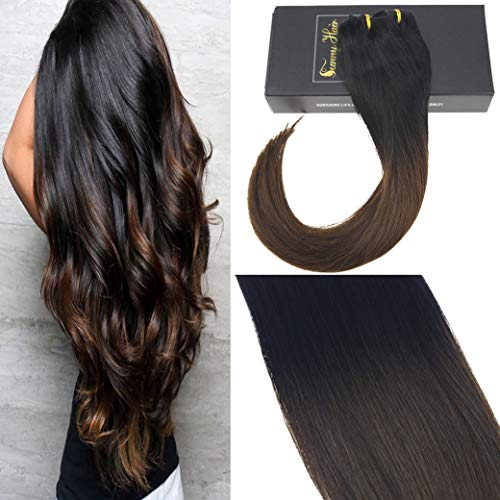 brown black clip in extensions - 4