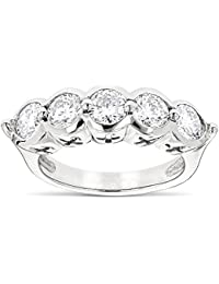 14K Rose, Yellow or White Gold Round Natural Diamond Ladies Ring (2.2 Ctw,G-H Color)