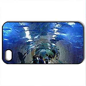 Aquarium - Case Cover for iPhone 4 and 4s (Modern Series, Watercolor style, Black)