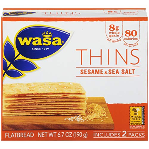 - Wasa Flatbread Thins, Sesame and Sea Salt, 6.7 Ounce (Pack of 10)
