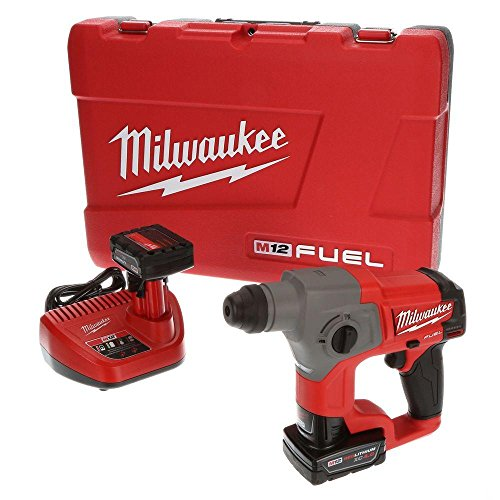 Milwaukee 2416-22xc M12 Fuel 5 8 Sds Plus Rotary Hammer Kit With Two Batteries