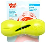West Paw Zogoflex Qwizl Interactive Treat Dispensing Dog Puzzle Treat Toy for Dogs, 100% Guaranteed Tough, It Floats!, Made in USA, Small, Granny Smith