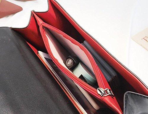 main Sacoches Nouveaux à Poignées Sacs Sacs Baguettes filles bambou pour bandoulière à Red poignée messager supérieure de en Sacs à les Sacs pFw7Exqw