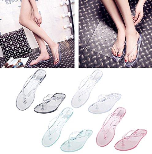Dairyshop Pantofole piatte donna pantofole pantofole antisdrucciolo Sandali trasparenti impermeabili