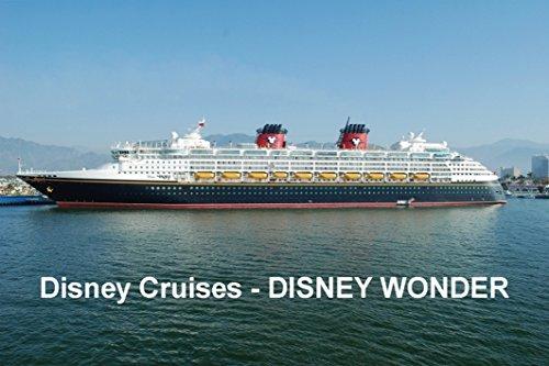 CRUISE SHIP FRIDGE MAGNET - DISNEY CRUISE LINE - DISNEY WONDER 3½ x 2½ inches Jumbo (Disney Cruise Line Ship)