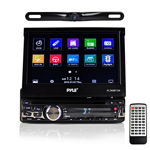 Pyle Car Stereo Receiver System & Backup Camera Kit Touch-Screen Headunit  Radio CD/DVD Player | Bluetooth Wireless Streaming | Hands-Free Talking |