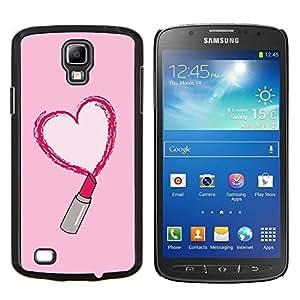 TECHCASE---Cubierta de la caja de protección para la piel dura ** Samsung Galaxy S4 Active i9295 ** --lápiz labial rojo del amor rosa corazón beso