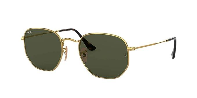 Ray-Ban de los hombres Gafas de sol hexagonales RB3548N, Oro