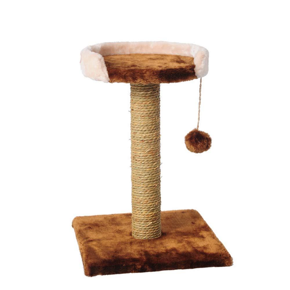 HU Cat Tree Struttura rampicante Multifunzionale Resistente e Robusta della catasta dell'erba del Mare della Peluche Comoda e Calda della Peluche