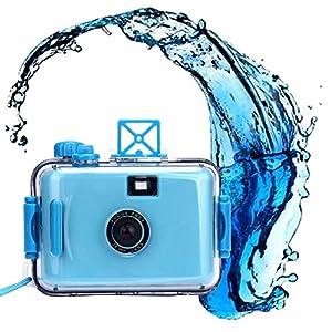 ZIYUO Mini Waterproof 35mm Film Camera Underwater Digital Cameras Sky Blue
