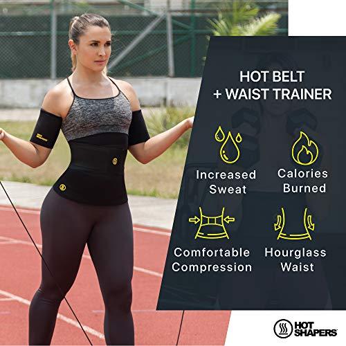 05c0b61eb08b6 Hot Shapers Hot Belt with Waist Trainer – Women s Sweat Waist Trimmer Corset  (Large