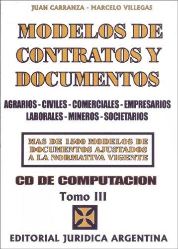 Modelos de Contratos y Documentos 3 Tomos - Con CD (Spanish Edition)