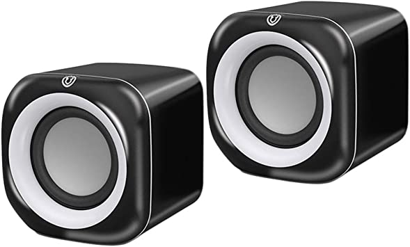 Gazechimp Conjunto De 2 Caja De Sonido De Plástico Negro 3.5mm USB Mini Altavoz con Cable para Computadora: Amazon.es: Electrónica