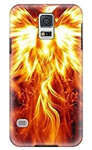 CaseandHome Fire Phoenix Design PC Material Hard Case for Samsung Galaxy S5