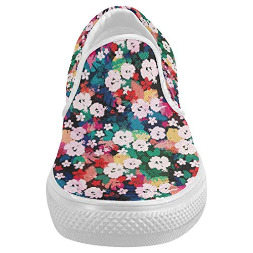new InterestPrint Hawaiian Floral Casual Slip-on Canvas Women's Fashion Sneakers Shoes