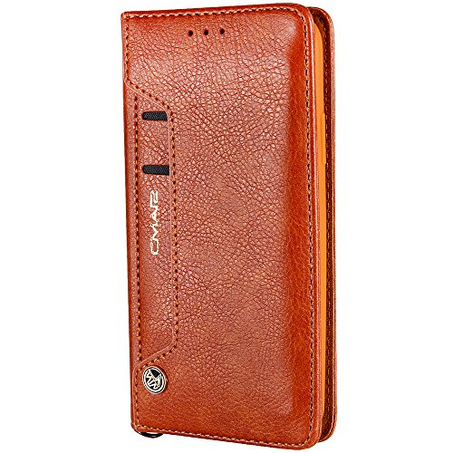 wallet wallet 7 8 colors iPhone Multifunctional leather 7 from Plus Brown for Plus 5 case phone bifold 8 to choose with X phone function support ZZ0REq