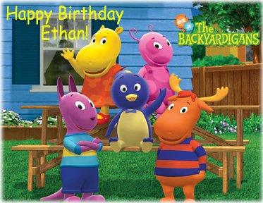 Cake Backyardigans Decorating (Backyardigans Personalized Edible Cake Image Birthday Party NIP)