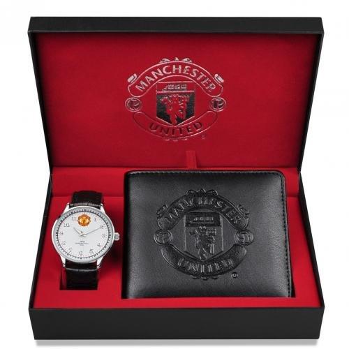 Mens Watch & Wallet Set - Manchester United F.C