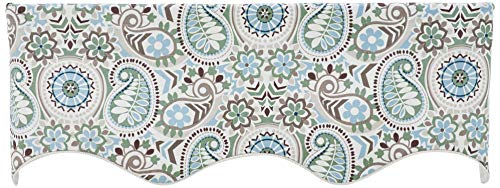 (Ellis Curtain Paisley Prism Jacobean Floral Print Lined Duchess Filler Valance, 50 by 15-Inch,)