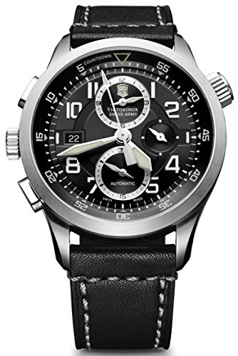 Victorinox Swiss Army Men's 241446 AirBoss Mach 8 Special Edition Black Chronograph Dial Watch (Victorinox Watch Men Mach)