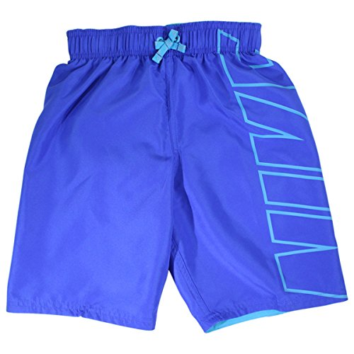 NIKE Big Boy's Logo Breaker Hyper Royal 8-Inch Trunks Swimwear SZ: - Nike Trunks Boys Swim