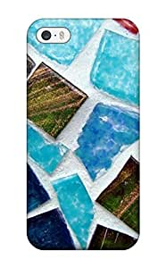 Lennie P. Dallas's Shop Best 4883302K70238087 Slim Fit Tpu Protector Shock Absorbent Bumper Mosaic Texture Case For Iphone 5/5s
