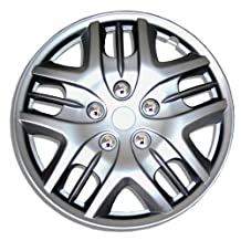TuningPros WC-16-1025-S 16-Inches-Silver Improved Hubcaps Wheel Skin Cover Set of 4