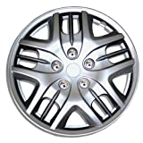 2009 toyota corolla s hubcaps - TuningPros WC-16-1025-S 16-Inches-Silver Improved Hubcaps Wheel Skin Cover Set of 4