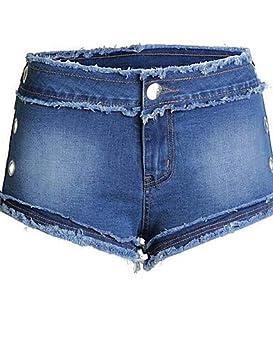 fe1dd3eae YFLTZ Pantalones Cortos para Mujeres - Cintura Alta de Color sólido/Salir:  Amazon.es: Deportes y aire libre