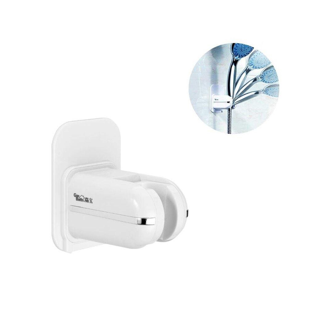 Gaoyu Adjustable Handheld Shower Head Holder Bracket, Plastic Bathroom 3M Adhesive Showerhead Adapter, Waterproof, Wall Mounted, Universal Showering Components - NO TOOLS REQUIRED