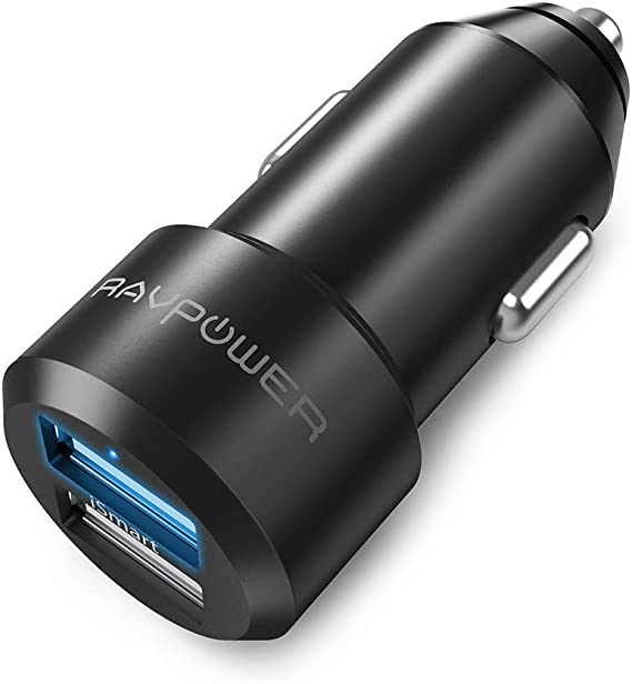 iPad Pro//Air 2//Mini Galaxy S10 S9 S8 S7 S6 Note 24W Dual USB QC3.0 Port Mini Fast Car Charger Compatible with iPhone SE//XS//MAX//XR//X//8//7//6//Plus UGREEN Car Charger Adapter LG Nexus etc.