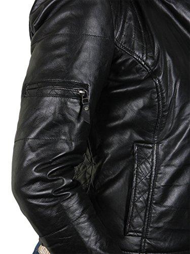 Cuir Capuche A En Motard Look Noir Brandslock Femmes De Concepteur Jacket OCqYE