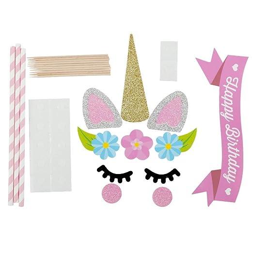 Unicornio Pastel De Cumpleaños Topper Set, Decorar con Juego ...