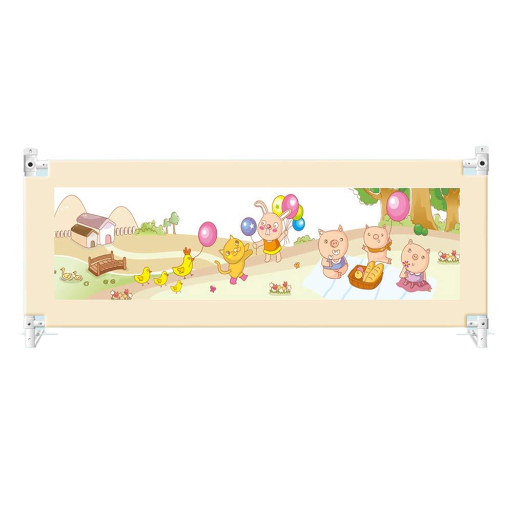 ベッドフェンス, 垂直リフトベッドレールガードフォン、幼児用、ポータブルかつ安定した幼児ベッドレール、キング/クイーンサイズベッド用 - 82cmの高さ (サイズ さいず : 220cm) 220cm  B07K34DXHB