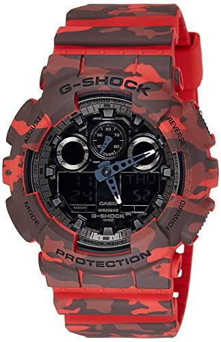 Casio Mens G SHOCK CAMO Analog-Digital Sport Quartz Watch NWT GA-100CM-4A
