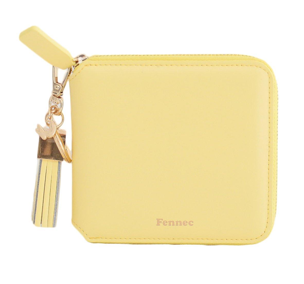 Fennec Zipper Wallet Square Tassel フェネック 二つ折り財布 コインケース付き 【Fennec OFFICIAL】 B0765NH47V メロウイエロー メロウイエロー