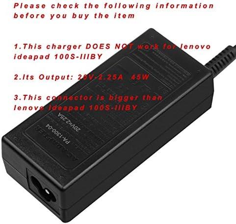 20V 45W Charger for Lenovo-Ideapad 710, 100, 110, 110s, 120s, 310, 320, 320s, 510, 510s, 710s, 720s; 81CW 81CX; Lenovo Chromebook-100s 80QN, N22, N23, ...