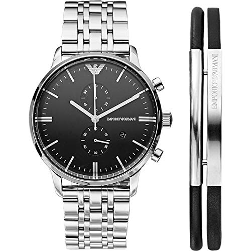 Emporio Armani Mens Watch and Bracelet Gift Set AR80009 with Gift Box $495