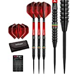 Red Dragon Jamie Lewis 23g - 90% Tungsten Steel Darts with Flights, Shafts, Wallet & Red Dragon Checkout Card