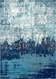 nuLOOM Alayna Abstract Area Rug, 8' x 10', Blue