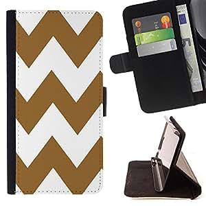 Dragon Case - FOR Sony Xperia Z3 D6603 - Brown and white big waves - Caja de la carpeta del caso en folio de cuero del tir¨®n de la cubierta protectora Shell