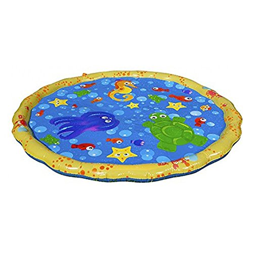 Big-time Sprinkle and Splash Play Mat, Inflatable Outdoor Sprinkler Pad Summer Fun Toy Backyard Play for Baby Kid and Child ()