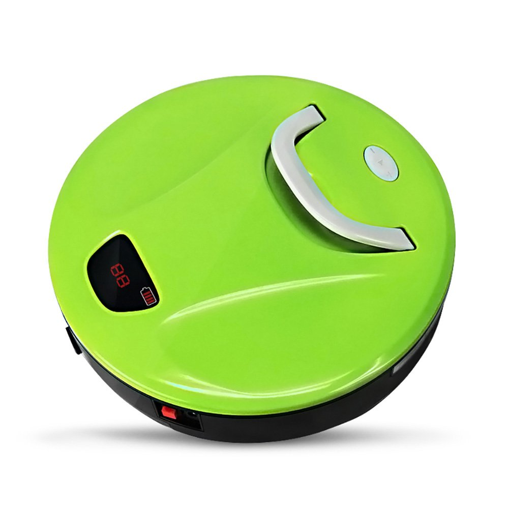 Vacuum Cleaner Robot, FINE DRAGON Automatic Robotic Vacuum Cleaner High Suction Cleaning for Hard Floor and Thin Carpets (Green)